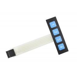 Sealed Membrane 1x4 Button Pad