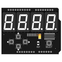 LED 7 segment ja nuppudega laiendusplaat Arduinole