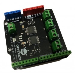 Quad motor driver shield for Arduino