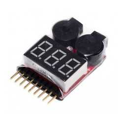 LiPo monitor 2-8S alarm and voltage indicator