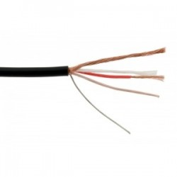 Cable 2x0,22mm² ,black shielded ø3,8mm