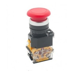 Red LA38-11M 22mm Momentary Mushroom Cap Push Button Switch Self Reset Spring Return