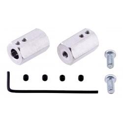Paar ratta adapterid 6 mm võllile
