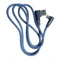 USB kaabel A-mikroB 90 kraadise nurgaga