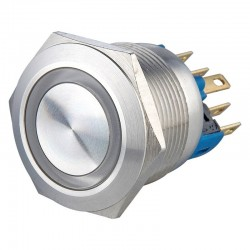 LED green button 12V 5pin 16mm
