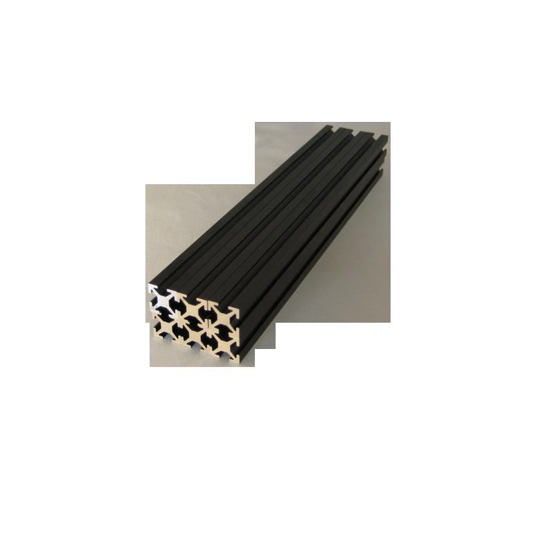 MakerBeam 150 mm, anodeeritud must