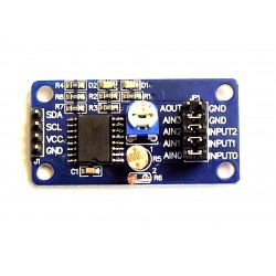 Analog-digital converter 8-bit PCF8591 with on-board sensors